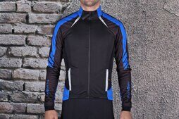 Велокуртка 12-692 Tolmezo WJ-1326 Black/Blue TPU Thermal (Windstopper, Waterproof, Breathable) PRO с длин. молнией. черно-синяя M FUNKIER NEW