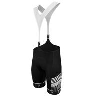 Велошорты 15-404 Matera-2 S-9850-F1 Men Eliteel Bib Shorts (NEW GRIPPER) с лямками с памперсом F1 черные XXL FUNKIER NEW
