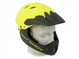 Шлем 8-9110389 Freeride/DH/BMX/Enduro FullFace ABS-HARD SHELL суперпрочн. Hot Shot HST X9 191 Yell-Neon/Blk 17отв. неоново-желтый 56-58см AUTHOR NEW